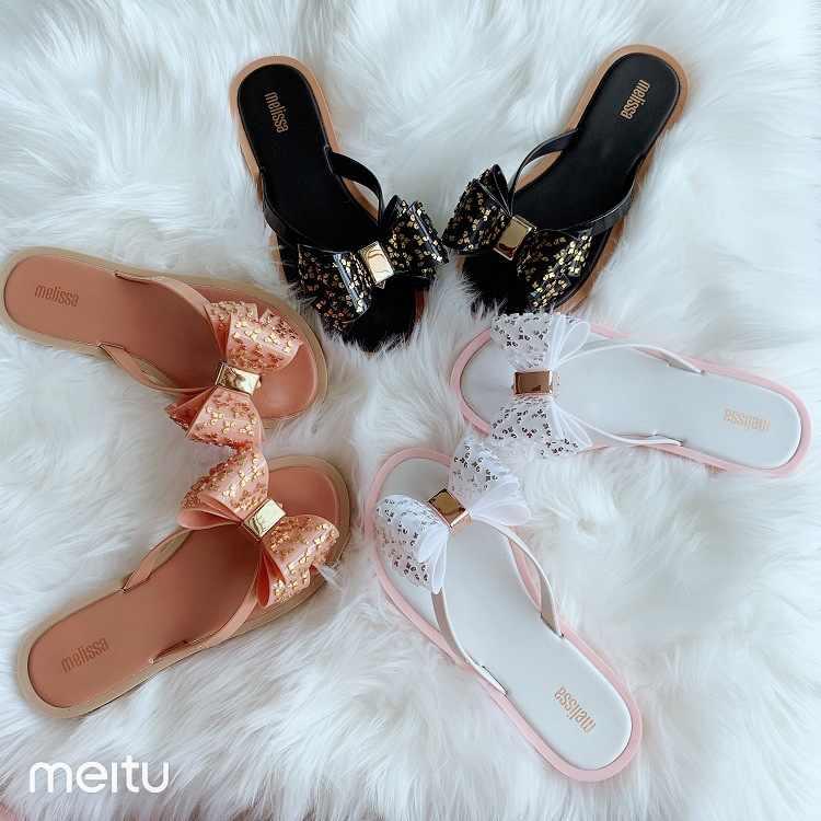 2020 New Melissa Women Slippers Bow