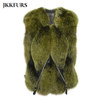 2020 New Women\'s Gilet Real Fox Fur Vest Fluffy Thick Warm Fur Winter Waistcoat Fashion Luxury Genuine Leather Natural Fur S7483 - DISCOUNT ITEM  48 OFF Women\'s Clothing