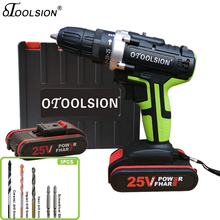 25+1 Toque 1.5Ah 25V Electric Drill Cordless Drill Power Tools Electronic Screwdriver Drill With Lithium Battery For DIY Home