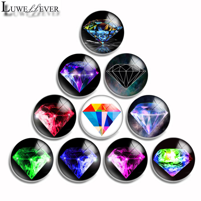 12mm 10mm 16mm 20mm 25mm 30mm 518 Mix Round Glass Cabochon Jewelry Finding 18mm Snap Button Charm Bracelet