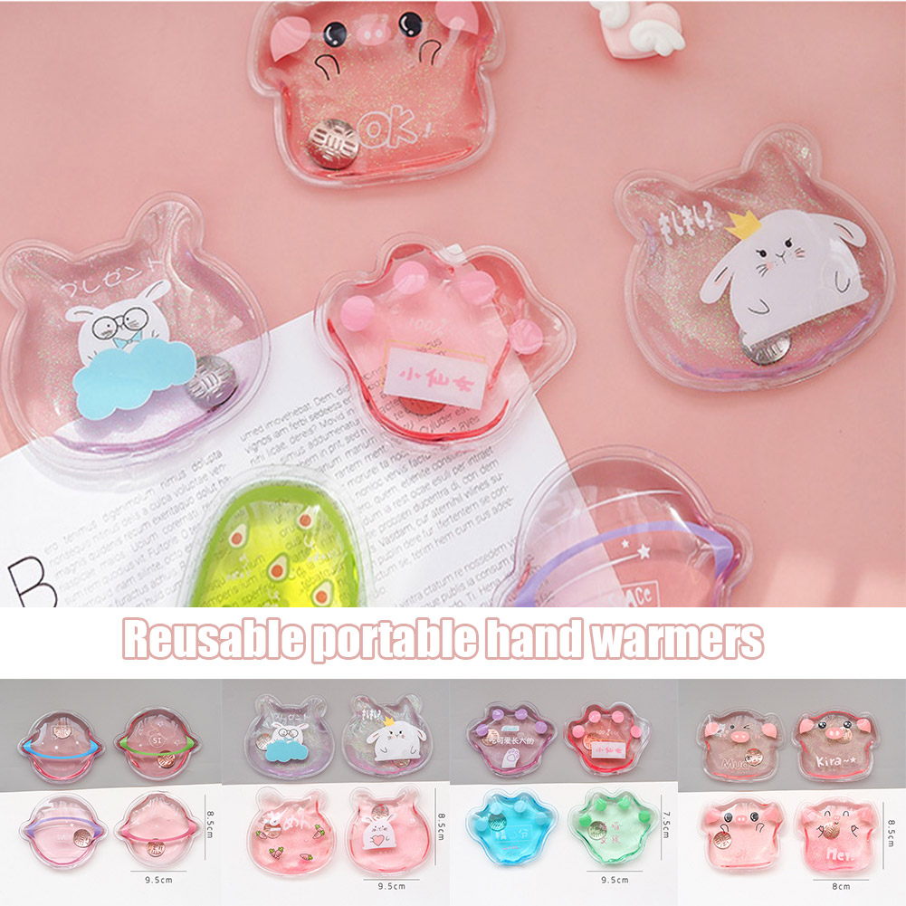 Newly Mini Winter Reusable Gel Hand Warmer Cute Funny Word Print Instant Heating Pack Warmer Travel