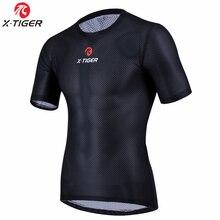 X-Tiger Pro велосипедная базовая одежда, крутая сетчатая Сверхлегкая велосипедная рубашка с коротким рукавом, дышащее нижнее белье, Джерси
