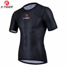 X-Tiger Pro Radfahren Basis Schichten Bike Clothings Cool Mesh Superlight Fahrrad Kurzarm Shirt Breathbale Unterwäsche Jersey(China)