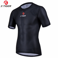 X-Tiger Pro Cycling Base Layers Bike Clothings Cool Mesh Superlight Bicycle Short Sleeve Shirt Breathbale Underwear Jersey