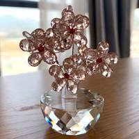 K9 kristal erik çiçek figürler cam çiçek Paperweight solmayan buket heykel süs feng shui el sanatları dekor ev dekor