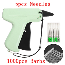 1000 Barbs + 5 Needles Clothes Garment Price Label Tags Gun Marking DIY Apparel Tagging Guns Sewing Craft Tools