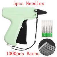 1000 widerhaken + 5 Nadeln Kleidung Garment Preis Label Tags Gun Kennzeichnung DIY Bekleidung Tagging Guns Nähen Handwerk Werkzeuge