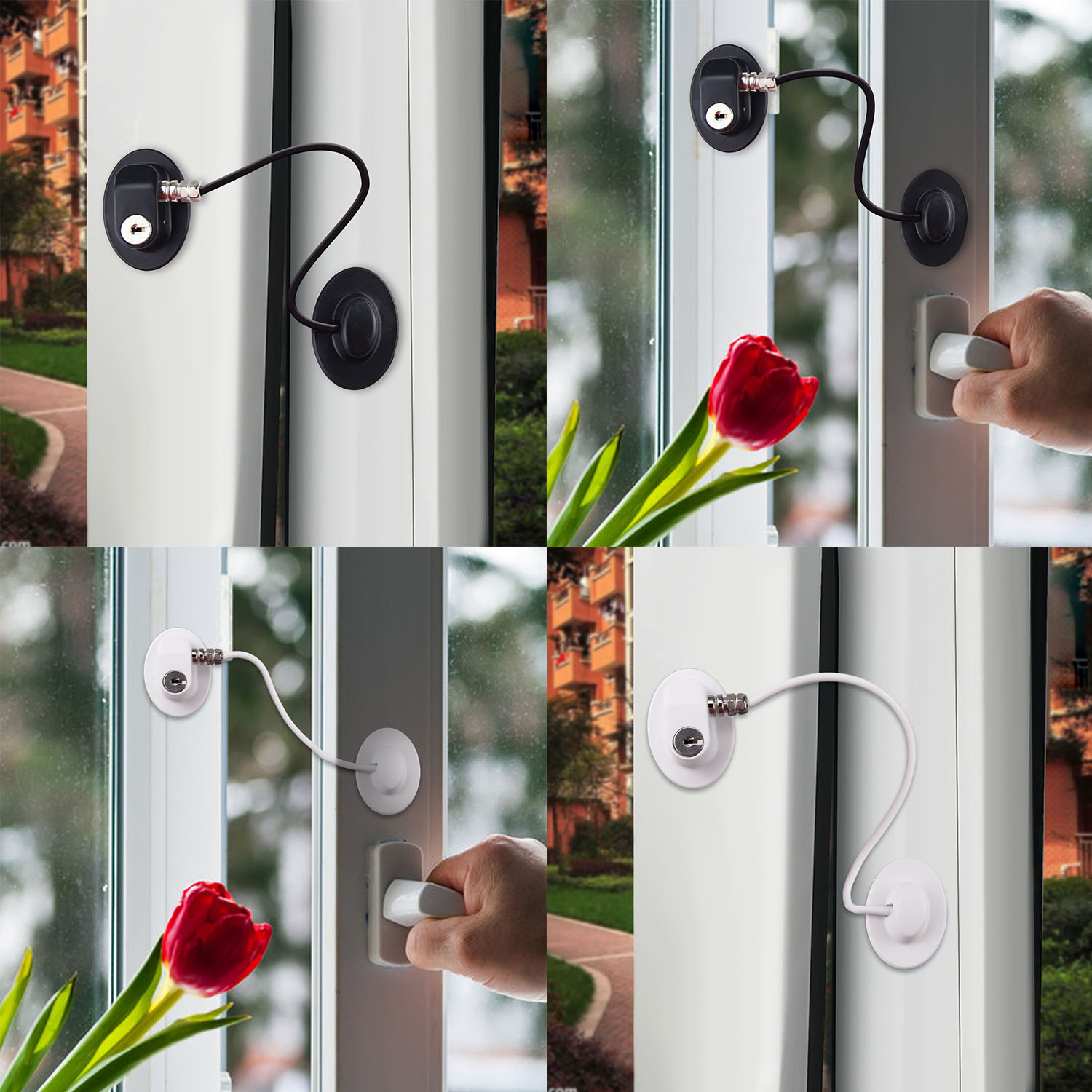 2PCS Child Self-adhesive Safety Locks Refrigerator Freezer Drawer Cupboard Cabinet Lock With Keys For Home Kitchen Living Room