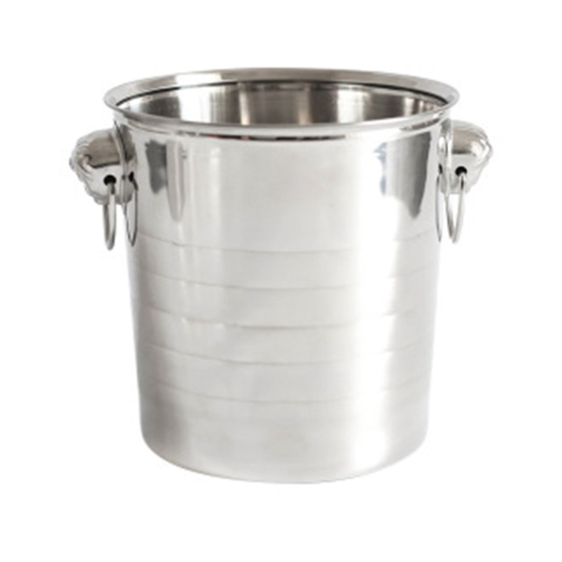 Stainless Steel Ice Punch Bucket Wine Beer Cooler Champagne Cooler Portable Bar Party Club Ice Bucket Container 3L
