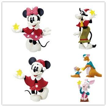 5 stück 8cm original Klassische mickey maus minnie maus känguru action Figure Sammeln Modell Spielzeug weihnachten baum ornament spielzeug