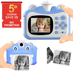 Pickwoo Children Mini Cute Digital Print Camera DIY Photo Instant Printing Video Recorder Camcorder Kids Big Head Sticker Gift