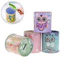 Tin-Plate Piggy-Bank Money-Saving-Coin Personalise 1pcs Storage Jewelry Series Gifts