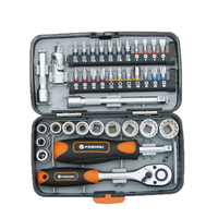 Car Repair Tool Set 38pcs Ratchet Wrench Set Hand Socket Set Released Handle and Extension Bar Tool for Car Repair