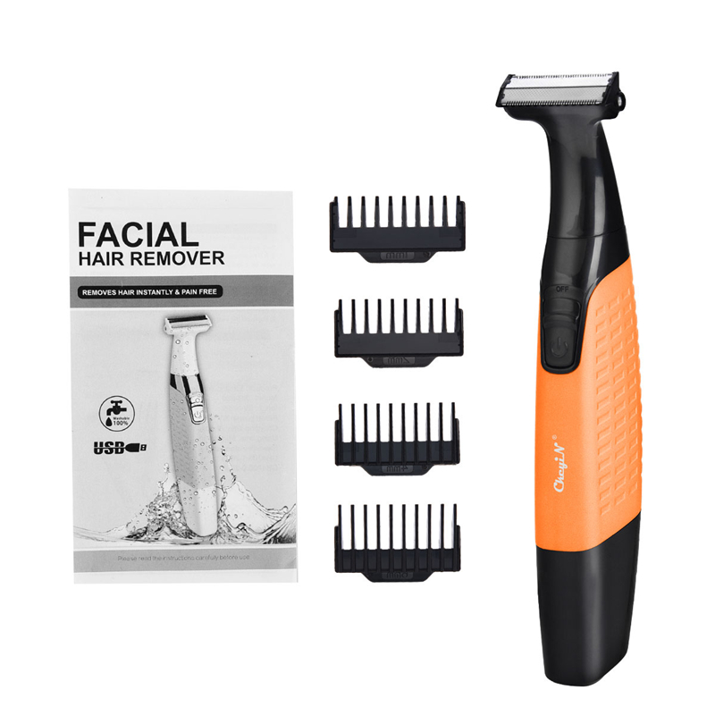 Electric Face Body Shaver Hair Removal Eyebrow Beard Back Trimmer  Washable Two-Edged Blade Men Women Portable Shaving Machine 5