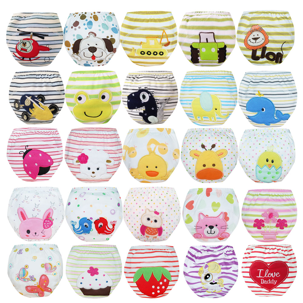 Babyfriend Baby Training Pants Waterproof Training Panties Toddler Kids Reusable Cloth Diapers Washable Diaper Pants Nappies