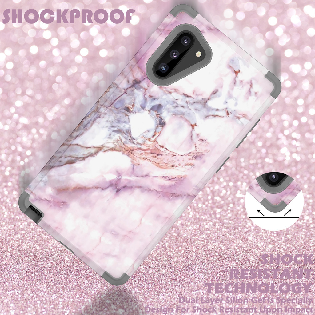 For Samsung Galaxy Note10 Luxury Marble Soft TPU Phone Case Ultra Thin silicone rubber scratch-resistant Phone Cases