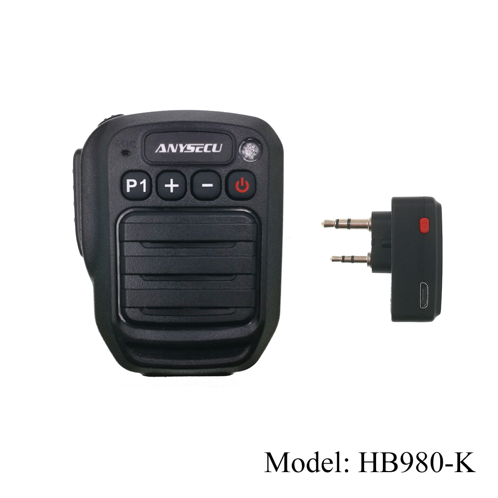 Anysecu Wireless Microphone Speaker HB980-K With K Connector For Baofeng UV-82 UV-5R UV-888S TH-UV8000d Walkie Talkies