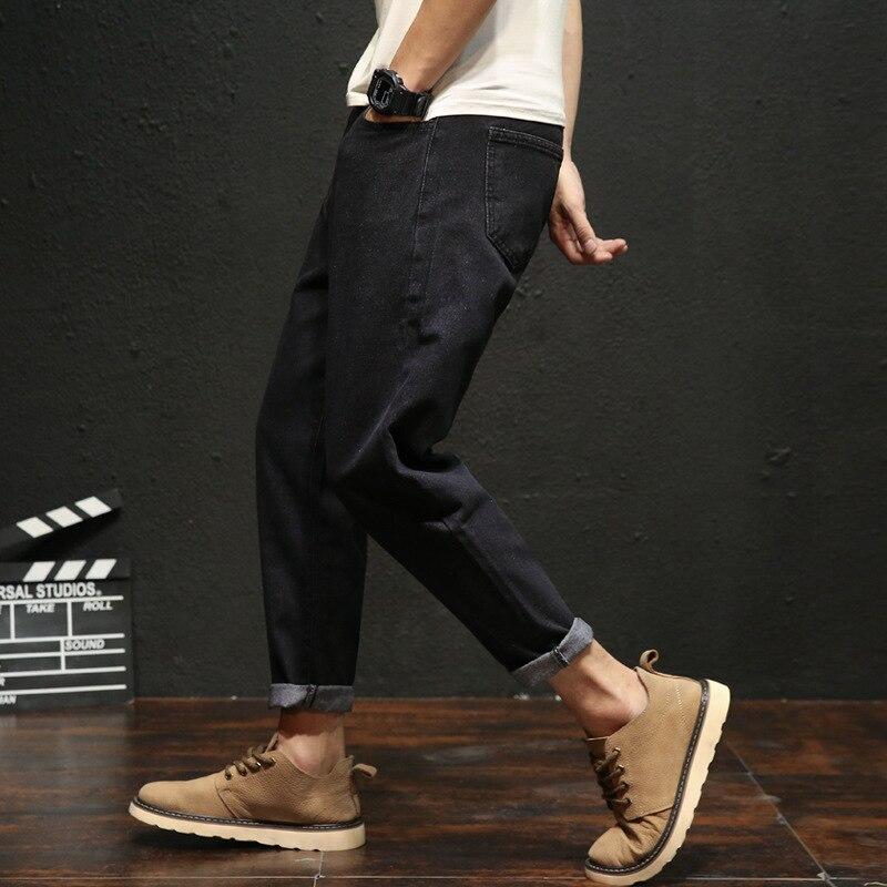 Autumn Fat Casual Pants Men's Hip Hop Capri Pants Plus-sized Loose-Fit Harem Skinny Pants Youth 9 Pants
