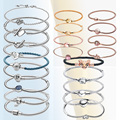 FURUYA Most Popular S925 Sterling Silver Bracelets Shell Clips Love Buttons Snake Bracelets Women Jewelry Can Match beads Charms