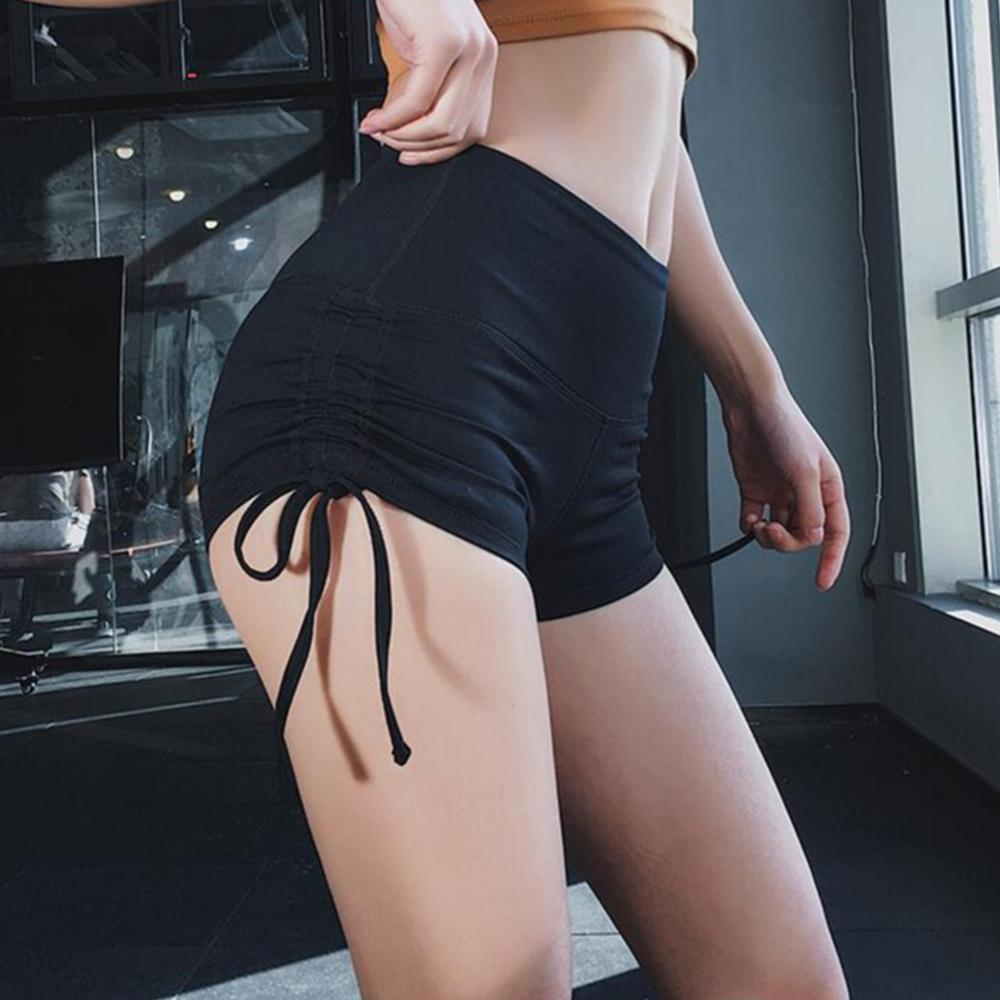 Z 2019 Summer Short New Sexy Slim Sports Short Drawstring Design Peach Shorts  Gym Short Pantalon Corto Deporte Mujer Rk