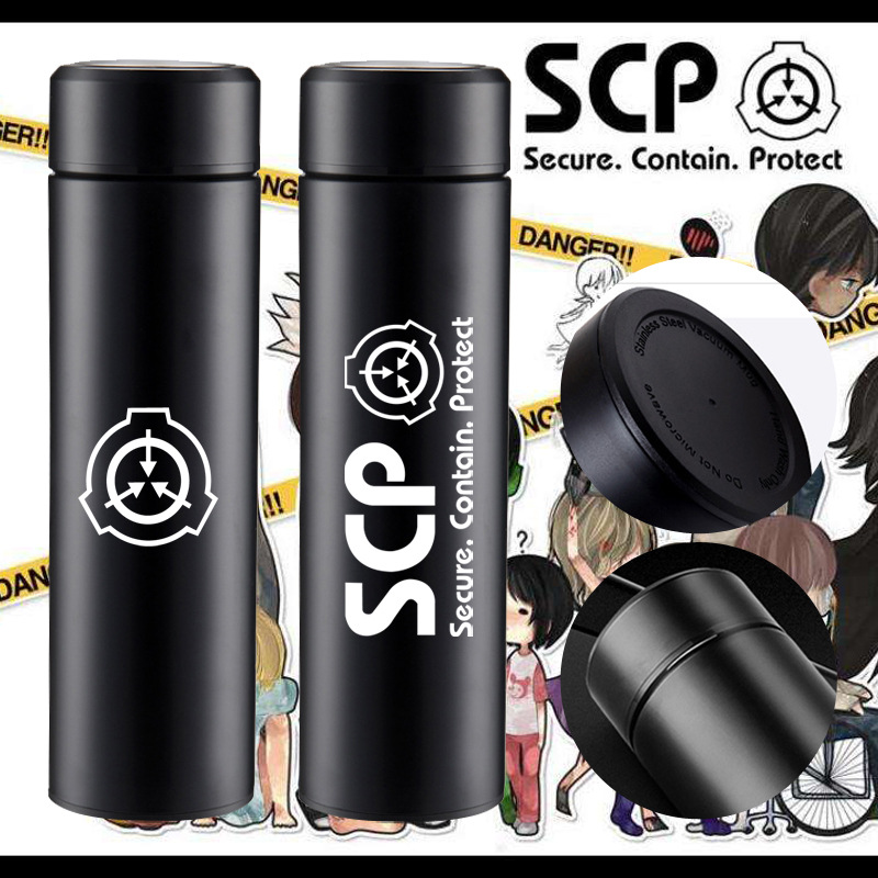 SCP Foundation Creative Animation Surrounding Thermal Insulation Cup Water Cup Travel Portable Tea Cup