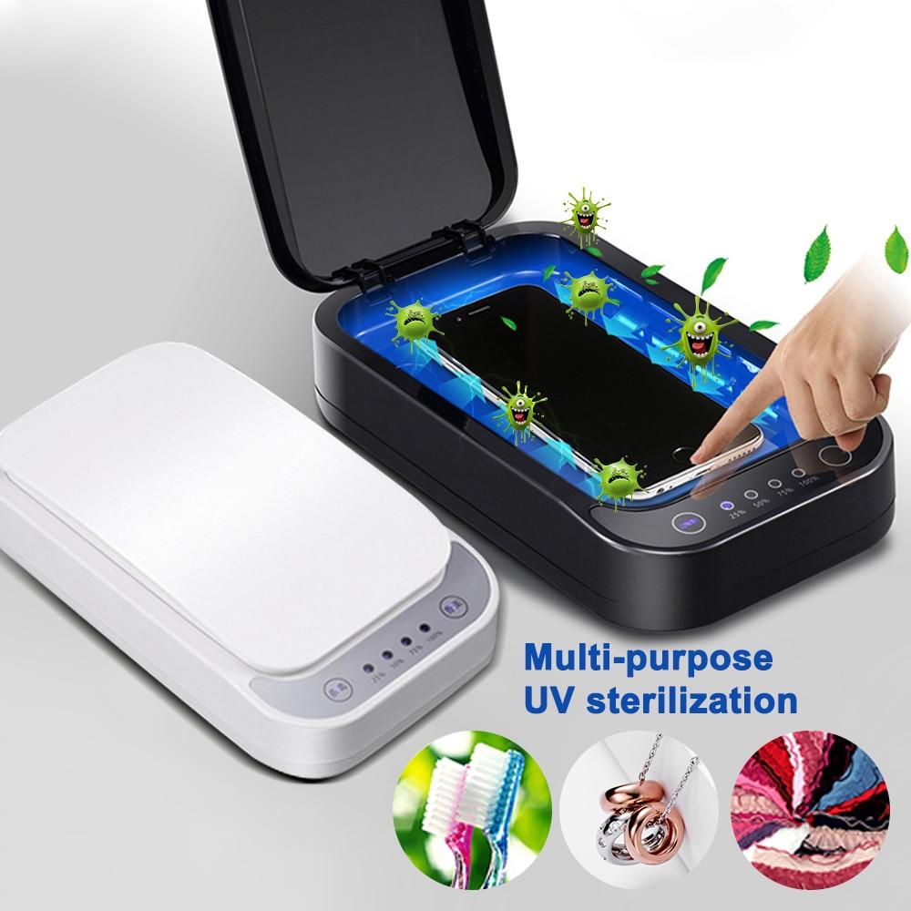 Smart UV Sanitizer Masks Ultraviolet Sterilizer Box Uvc Light Portable Automatic Disinfection Box With Aromatherapy Blacklight