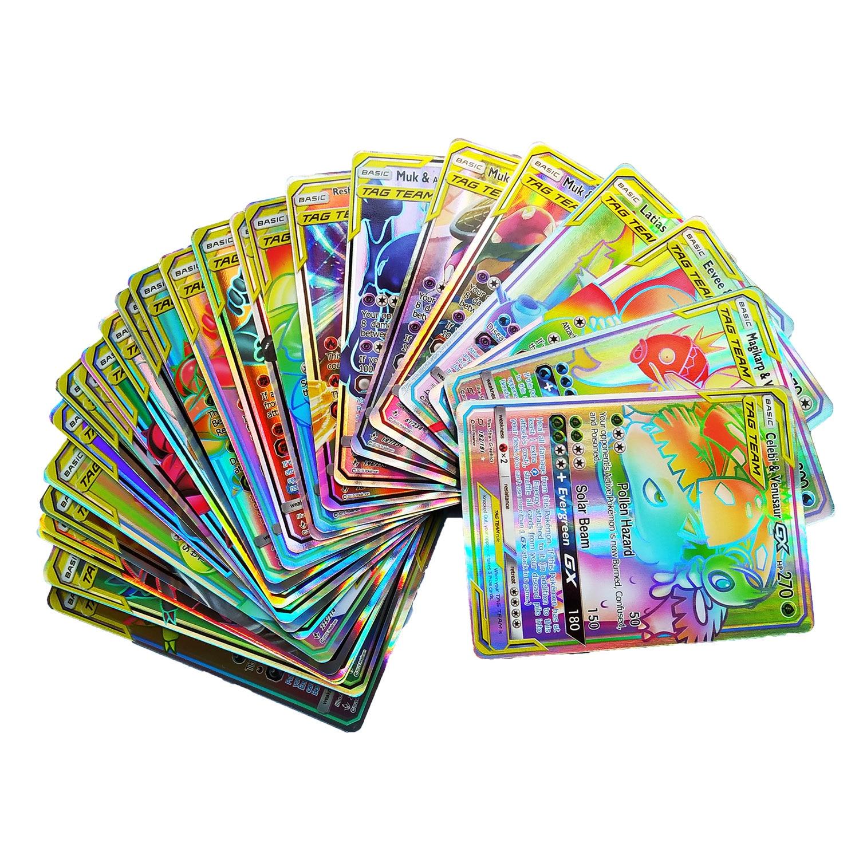 Pokemones GX Carte brillant cartes jeu bataille Carte Trading enfants cadeau