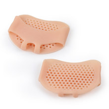 5 Pair foot pad Silicone Gel Insoles Pads Cushions Forefoot pad Support Front Feet Care Heel pad Slip Silicone Pads foot pad leopard pattern silicone forefoot insole pads black yellow pair