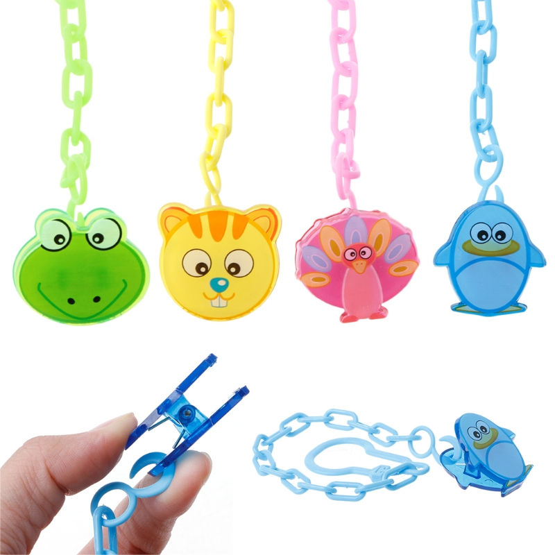 Lovely Cartoon Baby Pacifier Chain Clip Anti Lost Dummy Soother Nipple Holder