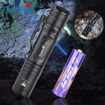 Trustfire L2 Mini Tactical EDC LED Flashlight 1000LM 14500 AA Linterna Waterproof IPX8 Lamp Bright Lantern Camping Powerful