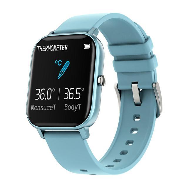 ساعة P8 pro متصلة ، شاشة تعمل باللمس 1.4 بوصة عالية الدقة ، درجة حرارة الجسم ، وضع رياضي متعدد ، جهاز تعقب للياقة البدنية P8T