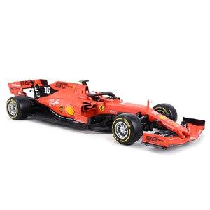 Image 5 - Bburago 1:18 2019 SF90 F1 Racing #16 #05 Formel Auto Statische Druckguss Fahrzeuge Sammeln Modell Auto Spielzeug