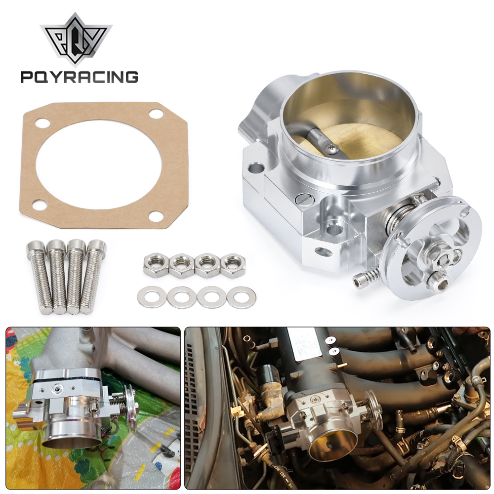 PQY alüminyum gümüş emme manifoldu 70mm gaz kelebeği gövdesi Honda B16 B18 D16 F22 B20 D/B/H/F EG EK H22 PQY6952
