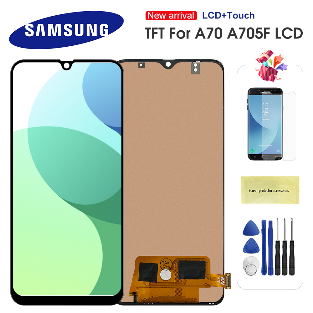 6.7'' Display For <font><b>Samsung</b></font> Galaxy <font><b>A70</b></font> 2019 A705 A705F SM-A705F A705DS <font><b>LCD</b></font> Display Touch Screen Digitizer Assembly Replacement image