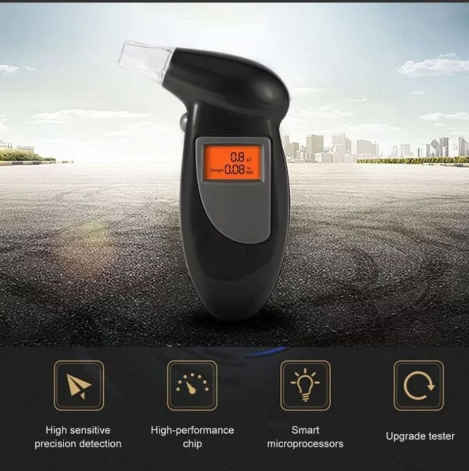 Digital Breathalyzer Drunk Portable Handheld for Driving Alcohol Hot