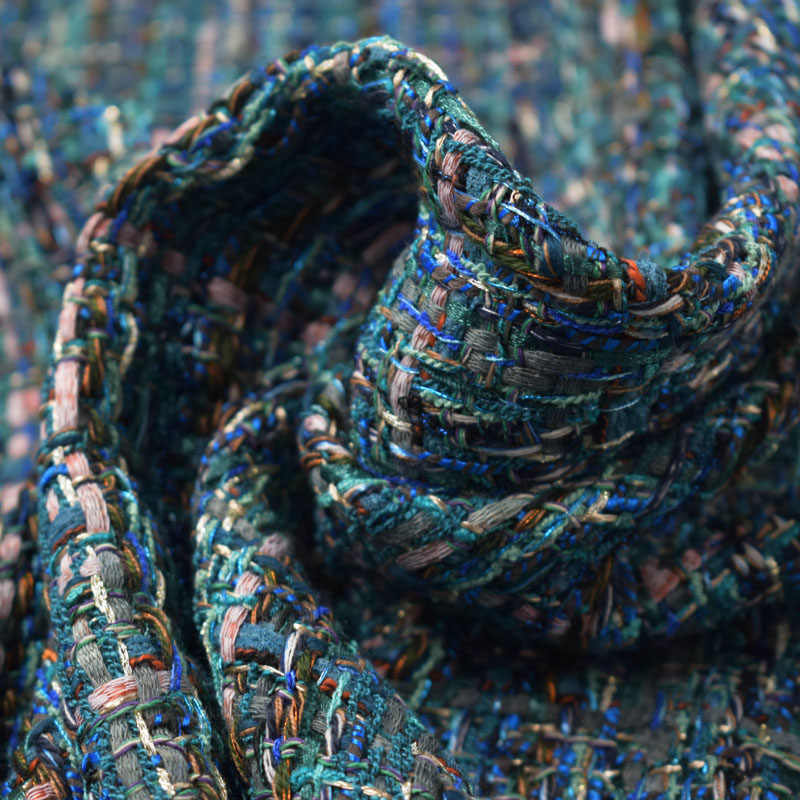 2019 autunno inverno lago verde morbido tweed tessuto per la gonna cappotto tissu african bazin riche getzner telas tissus stoffen tecido tela