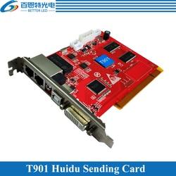 Huidu متزامن كامل اللون LED عرض إرسال بطاقة HD-T901 ، HD-T901B العمل مع بطاقة الاستقبال
