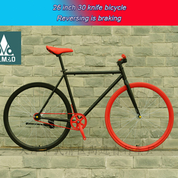 30 knife Fixed gear bicycle track bike without brake single speed bicycle 26 inch high carbon steel road bike