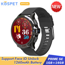"2020 KOSPET Prime SE 1GB 16GB Android montre intelligente pour hommes 1260mAh 1.6 ""caméra visage ID 4G Smartwatch GPS connecter Android IOS(China)"
