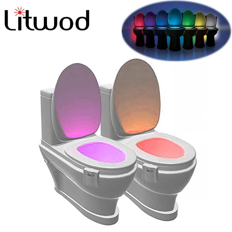 Z20 Smart PIR Motion Sensor Toilet Seat Night Light 8 Colors Waterproof Backlight For Toilet Bowl LED Lamp WC Toilet Light