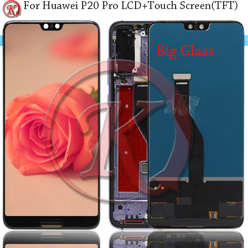 TFT Big Glass 6.1 LCD For Huawei P20 Pro LCD Display Touch Screen With frame Digitizer Assembly P20 pro AL01 L29 P20Plus Display(China)