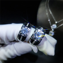 Geoki 925 Sterling Silver Perfect Cut Passed Diamond Test 2 ct 8mm D Color Moissanite Ring Men Excellent VVS1 Rings