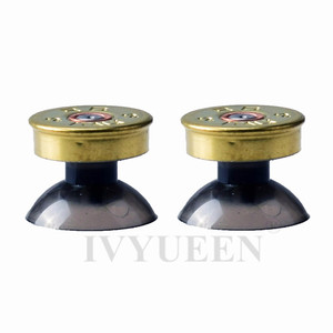 Image 3 - IVYUEEN Brass Bullet Buttons Mod Kit For Sony Dualshock 4 PS4 DS4 Pro Slim Controller Analog Thumb Sticks Cap with Action Button