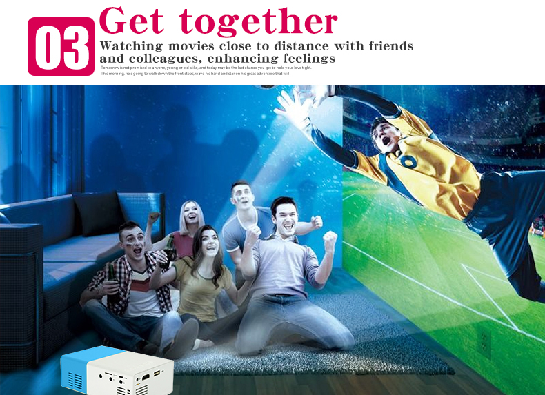 Salange YG300 Pico Mini Projector With 500 Lumen 3.5mm Audio 320x240 Pixels HDMI USB Support 11