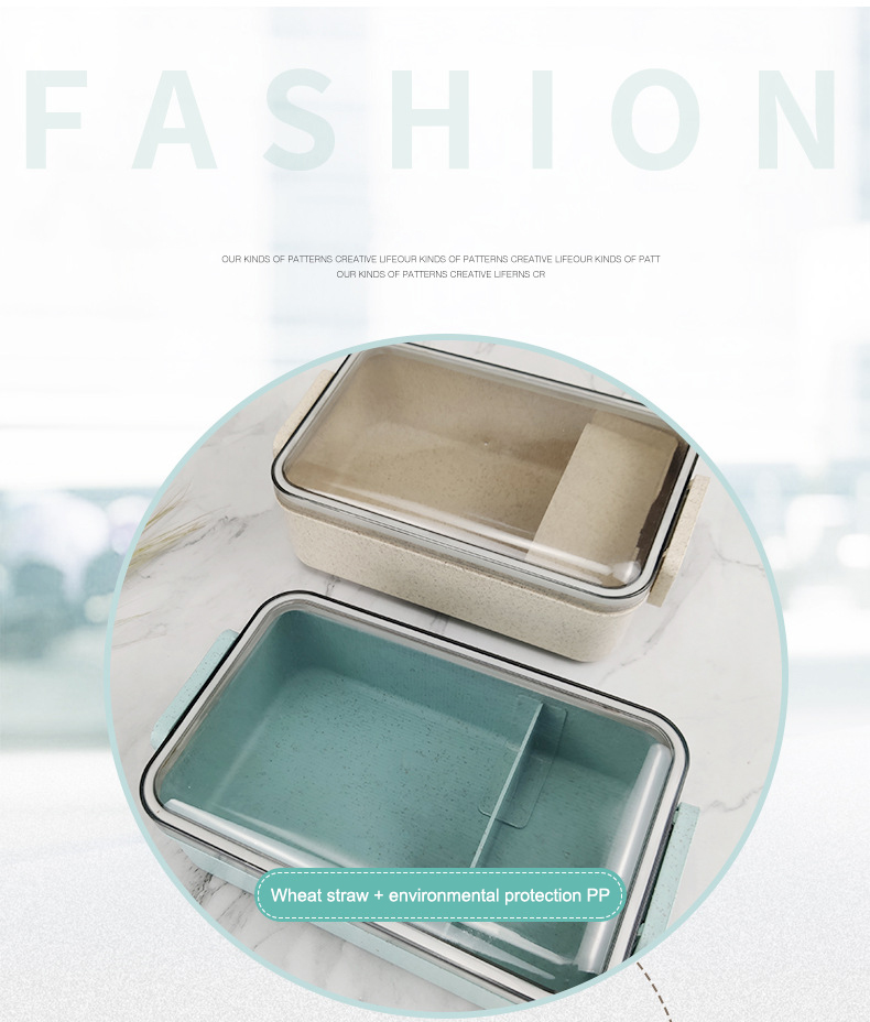 Heated Food Container For Food Bento Box Lunch Box Double-layer Compartments Lunchbox Microwave Container Box Japanese Thermal 6