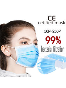 Meltblown-Cloth-Masks 3-Layer-Mask Disposable Non-Woven Anti-Dust Fast-Delivery 50pcs