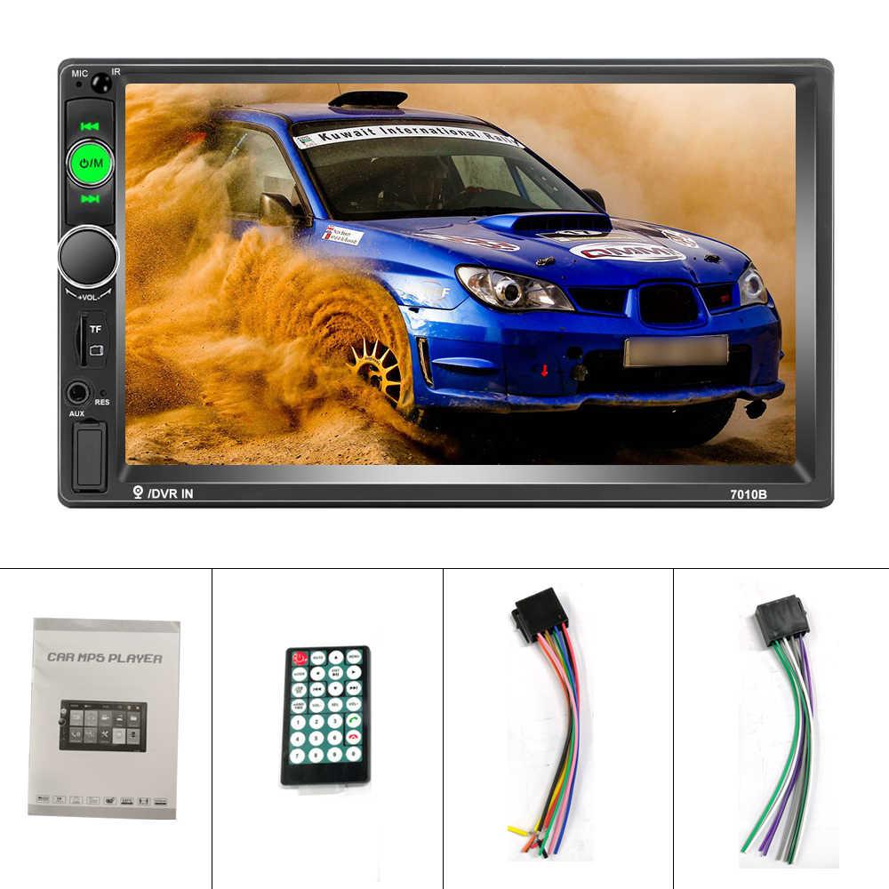 """Hikity Universal 2 din Radio samochodowe 7 """"HD Autoradio Mirror Link samochodowy odtwarzacz multimedialny z ekranem dotykowym i modułem Bluetooth Auto audio samochodowe Stereo"""