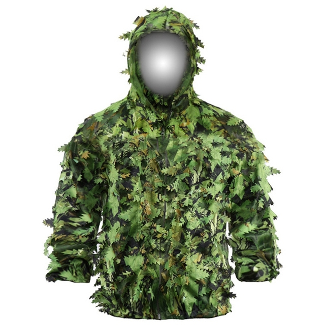 Sticky Flower Bionic Leaves Camouflage Suit Hunting Ghillie Suit Woodland Camouflage Universal Camo Set 2
