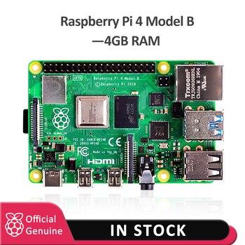 Официальная макетная плата raspberry pi 4, 4 Гб ОЗУ, v8, 1,5 ГГц, поддержка 2,4/5,0 ГГц, Wi-Fi, Bluetooth 5,0, raspberry Pi 4 Model B, 2019
