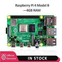 Официальная плата для разработки raspberry pi 4 4 Гб ram, v8 1,5 ГГц, поддержка 2,4/5,0 ГГц, Wi-Fi, Bluetooth 5,0, raspberry pi 4 Model B, 2019